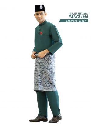 Set- Baju Melayu Panglima Emerald Green