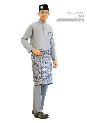 Set- Baju Melayu Jebat Grey