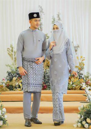 Set Couple Walinong Sari Grey – PLATINUM