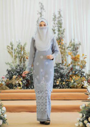 Songket Walinong Sari Grey