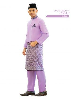 Set- Baju Melayu Jebat Lilac