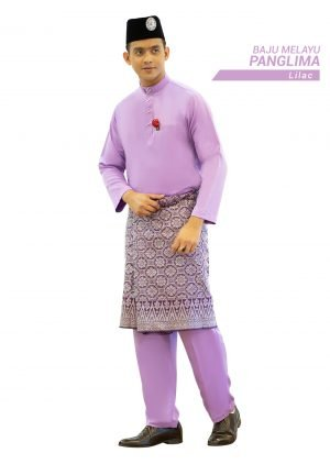 Set- Baju Melayu Panglima Lilac