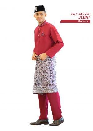 Set- Baju Melayu Jebat Maroon