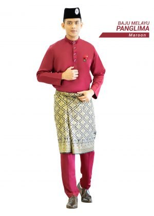 Set- Baju Melayu Panglima Maroon