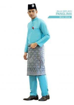 Set- Baju Melayu Panglima Mint Blue