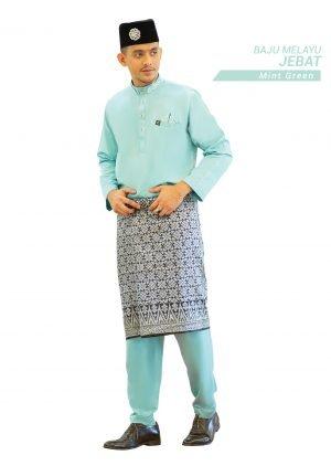Set- Baju Melayu Jebat Mint Green