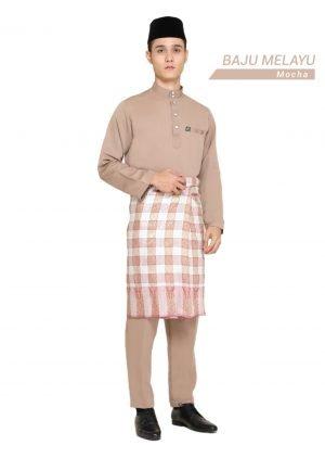 Set- Baju Melayu Al-Habib Mocha