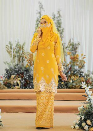 Songket Walinong Sari Mustard