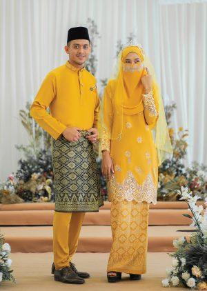 Set Couple WalinonG Sari Mustard – PLATINUM