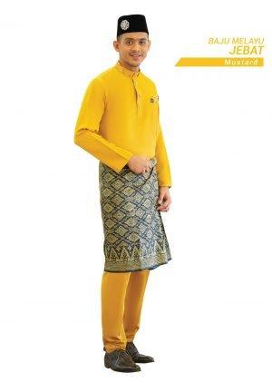Set- Baju Melayu Jebat Mustard