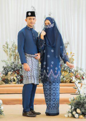 Set Couple Walinong Sari Navy Blue – PLATINUM