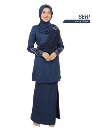 Kurung Seri Navy Blue