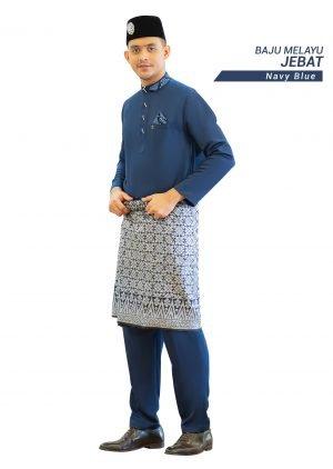 Set- Baju Melayu Jebat Navy Blue