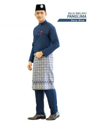 Set- Baju Melayu Panglima Navy Blue