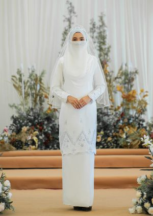 Songket Walinong Sari White