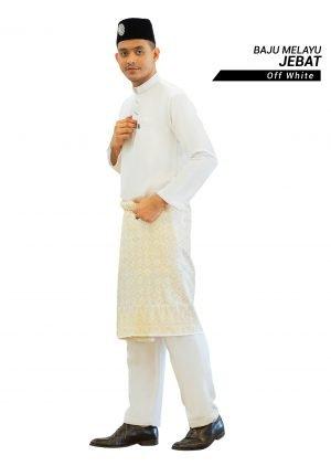 Set- Baju Melayu Jebat Off White