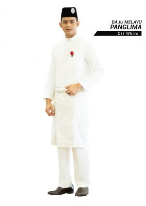 Set- Baju Melayu Panglima Off White