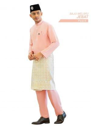 Set- Baju Melayu Jebat Peach