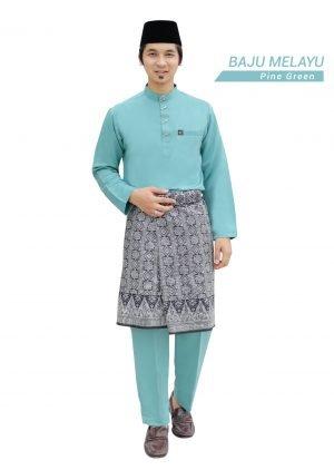 Set- Baju Melayu Al-Habib Pine Green