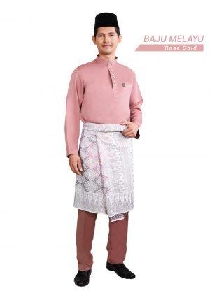 Set- Baju Melayu Al-Habib Rose Gold