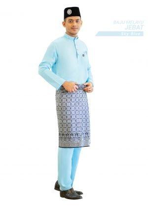 Set- Baju Melayu Jebat Sky Blue