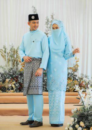Set Couple Walinong Sari Sky Blue – PLATINUM
