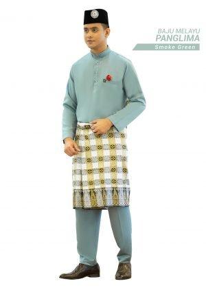 Set- Baju Melayu Panglima Smoke Green