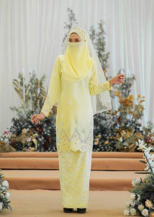 Songket Walinong Sari Yellow