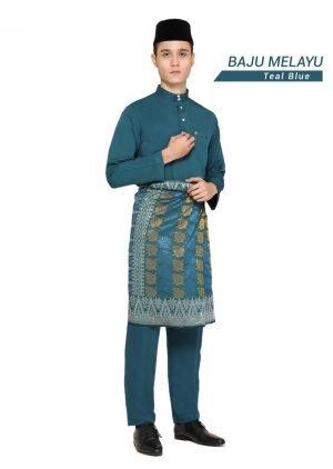 Set- Baju Melayu Al-Habib Teal Blue