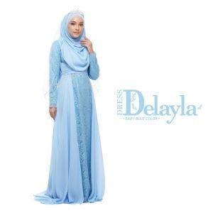 Dress Delayla Premium Baby Blue