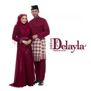 Set Couple Delayla Premium Maroon – GOLD