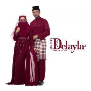 Set Couple Delayla Premium Maroon  – TITANIUM