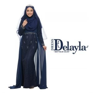 Dress Delayla Premium Navy Blue