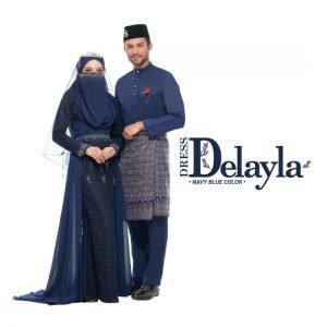 Set Couple Delayla Premium Navy Blue – GOLD
