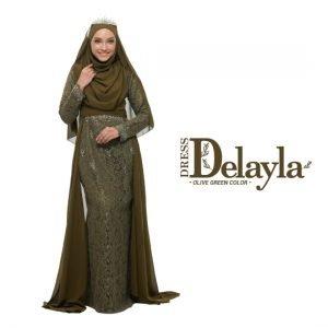 Dress Delayla Premium Olive Green