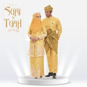 Set Suri & Tuah Premium Gold Mustard  – Titanium