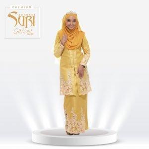 Songket Suri Premium Gold Mustard