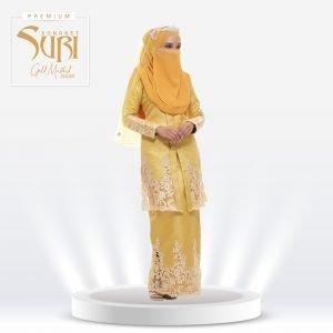 Set Songket Suri Premium Gold Mustard