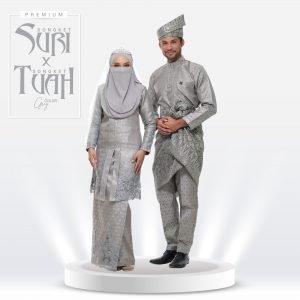 Set Suri & Tuah Premium Grey – Titanium