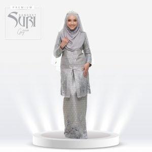 Songket Suri Premium Grey