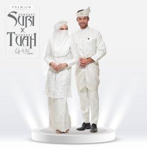 Set Suri & Tuah Premium Off White – Titanium