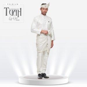 Set Songket Premium Tuah Off White
