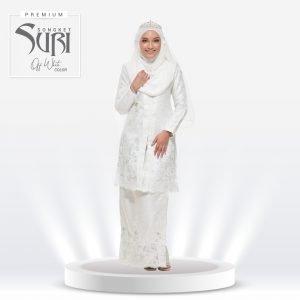 Songket Suri Premium Off White