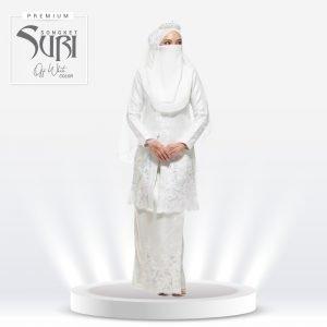 Set Songket Suri Premium Off White